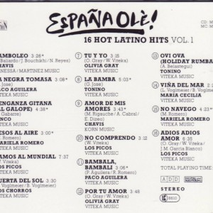 Espana Ole -16 Hot Latino Hits Vol 1 B