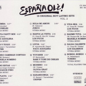 Espana Ole -16 Orig. Hot Latino Hits Vol 2 B