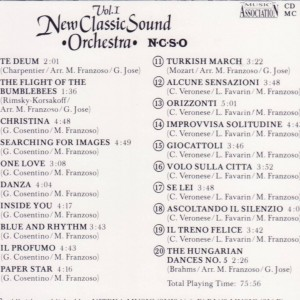 New Classic Sound Orchestra Vol.1 B