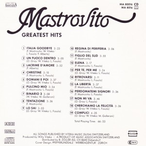 Mastrovito Greatest  Hits Album B